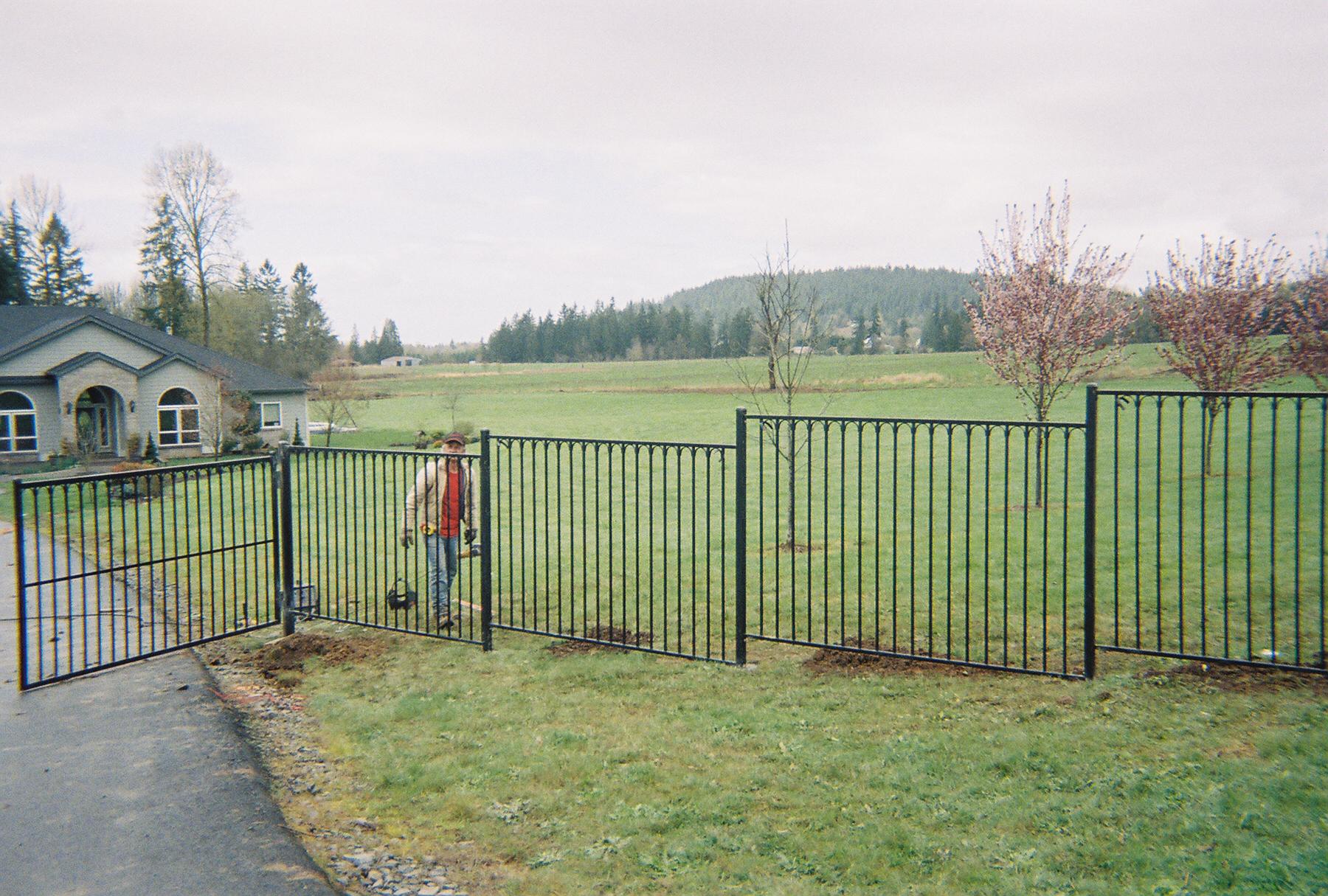 Vancouver ornamental fences fenceman fence company for Exterior design vancouver wa