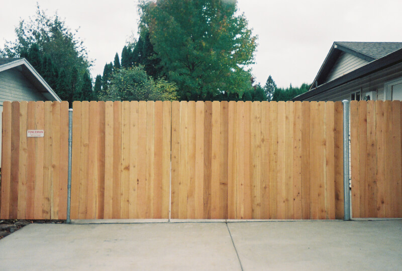 The Fenceman's Steel Framed Reinforced Drive Way Gate. Built to Last!