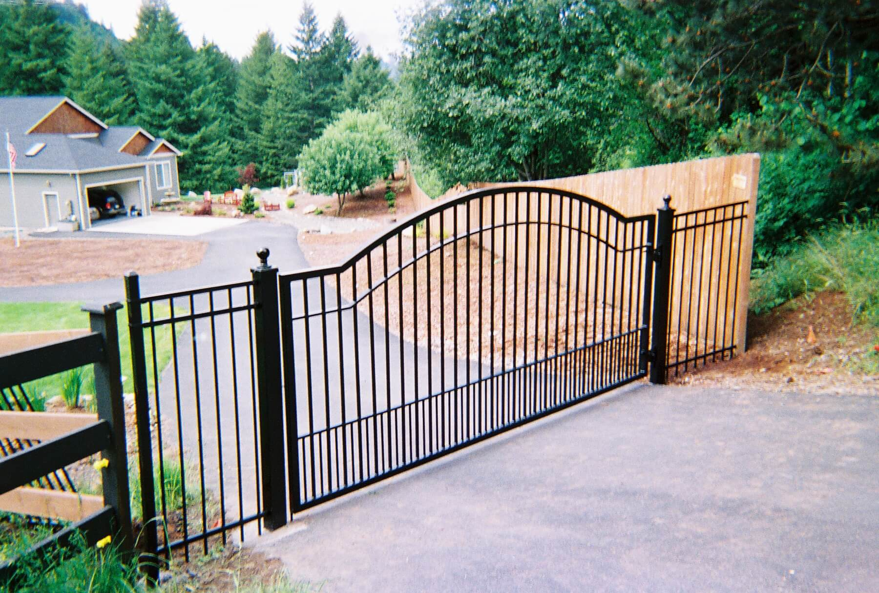 Custom Ornamental Access Gate Available. Contact Vancouver Washington's Best Fence Builders. Providing the best in all your fence needs for over 35 years. Call: 360-254-2299 today